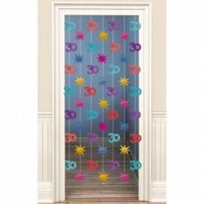Amscan deurdecoratie 30 jaar multicolor 200 cm