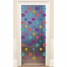 Amscan deurdecoratie 50 jaar multicolor 200 cm