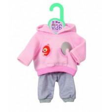Dolly Moda sportuitrusting 36 cm roze/grijs
