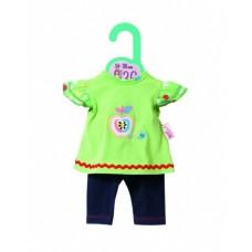 Dolly Moda shirt met legging 36 cm groen