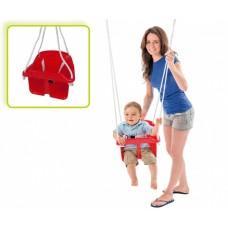 Happy People babyschommelzitje met touw 31 cm blauw
