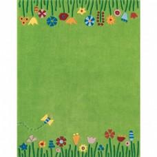 Haba vloerkleed weide 105 x 145 cm groen
