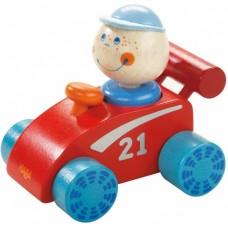 Haba racewagen 16 cm rood/blauw