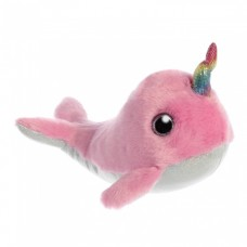 Aurora knuffelnarwhal Luna 18 cm roze