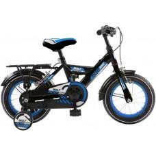 Mickeybike Mickeybike 16 Inch 27 cm Jongens Knijprem Zwart/Blauw