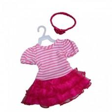 Amleg jurk met tule rok mini mommy roze meisjes 33-37 cm