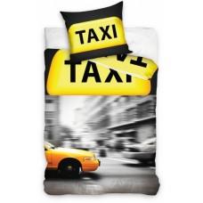 Carbotex dekbedovertrek Amerikaanse taxi geel 140 x 200 cm