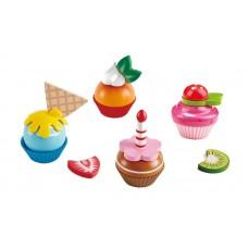 Hape cupcakes speelgoedeten 18-delig