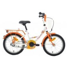 Bike Fun Lollipop 16 Inch Meisjes Terugtraprem Wit/Oranje