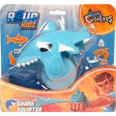 Aqua Kidz waterpistool haai 12 cm lichtblauw
