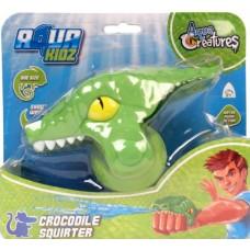 Aqua Kidz waterpistool krokodil 12 cm groen