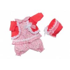 Berjuan kledingset babypop 30 cm rood/roze