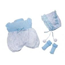Berjuan kledingset babypop 30 cm blauw