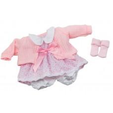 Berjuan kledingset babypop 30 cm lichtroze