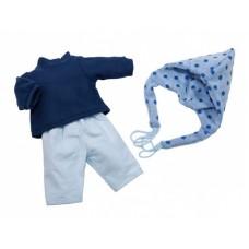 Berjuan kledingset babypop 38 cm blauw