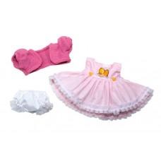 Berjuan kledingset babypop 38 cm roze