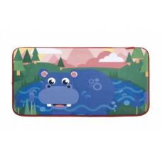 Fisher-Price vloerkleed fleece nijlpaard 75 x 45 cm multicolor