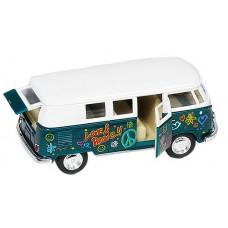 Goki Metalen Volkswagen Klassieke Bus: Groen Met Opdruk