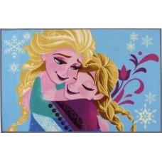 Disney vloerkleed Frozen blauw 80 x 120 cm