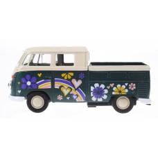 Goki volkswagen T1 Doka pick-up bloem groen 11 cm