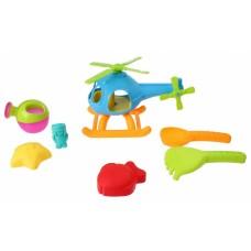 Free and Easy strandset met helikopter 7-delig blauw