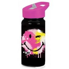 Diakakis drinkfles Smiley World junior 500 ml zwart/paars