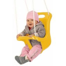 Happy People babyschommelzitje met touw 45 cm geel